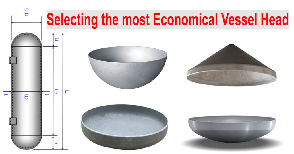 Selecting the most Economical Vessel Head